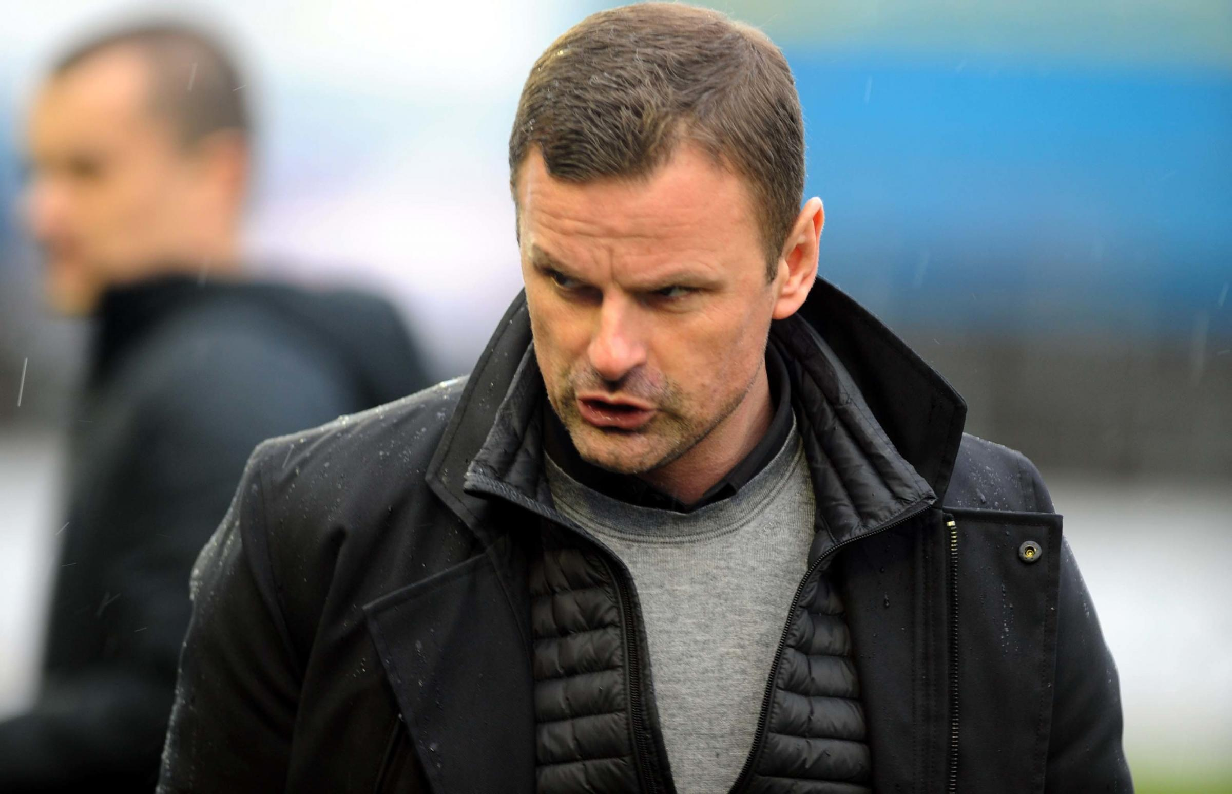 Carlisle v STFC         Pic Dave Evans       9.3.19.An unhappy afternoon for Richie Wellens..