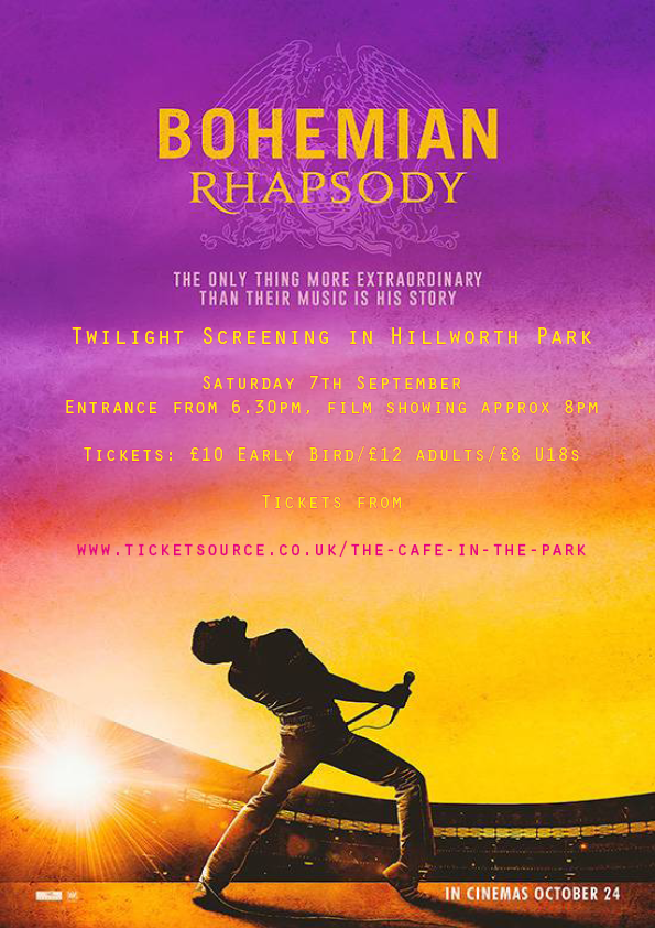 Bohemian Rhapsody: Outdoor Twilight Cinema in the Park