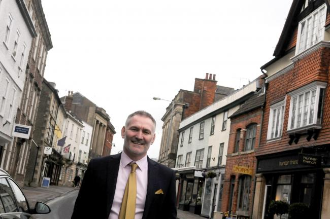 New Devizes town centre manager, Mark Hill. Photo: Siobhan Boyle SMB2697/4