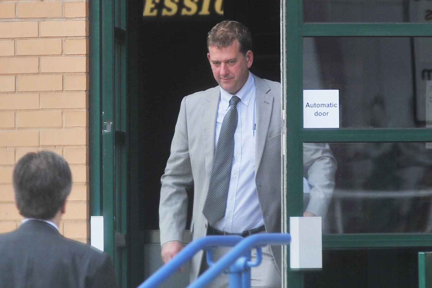 Lee Averies leaving Swindon magistrates court after a hearing in 2015 Photo: Thomas Kelsey