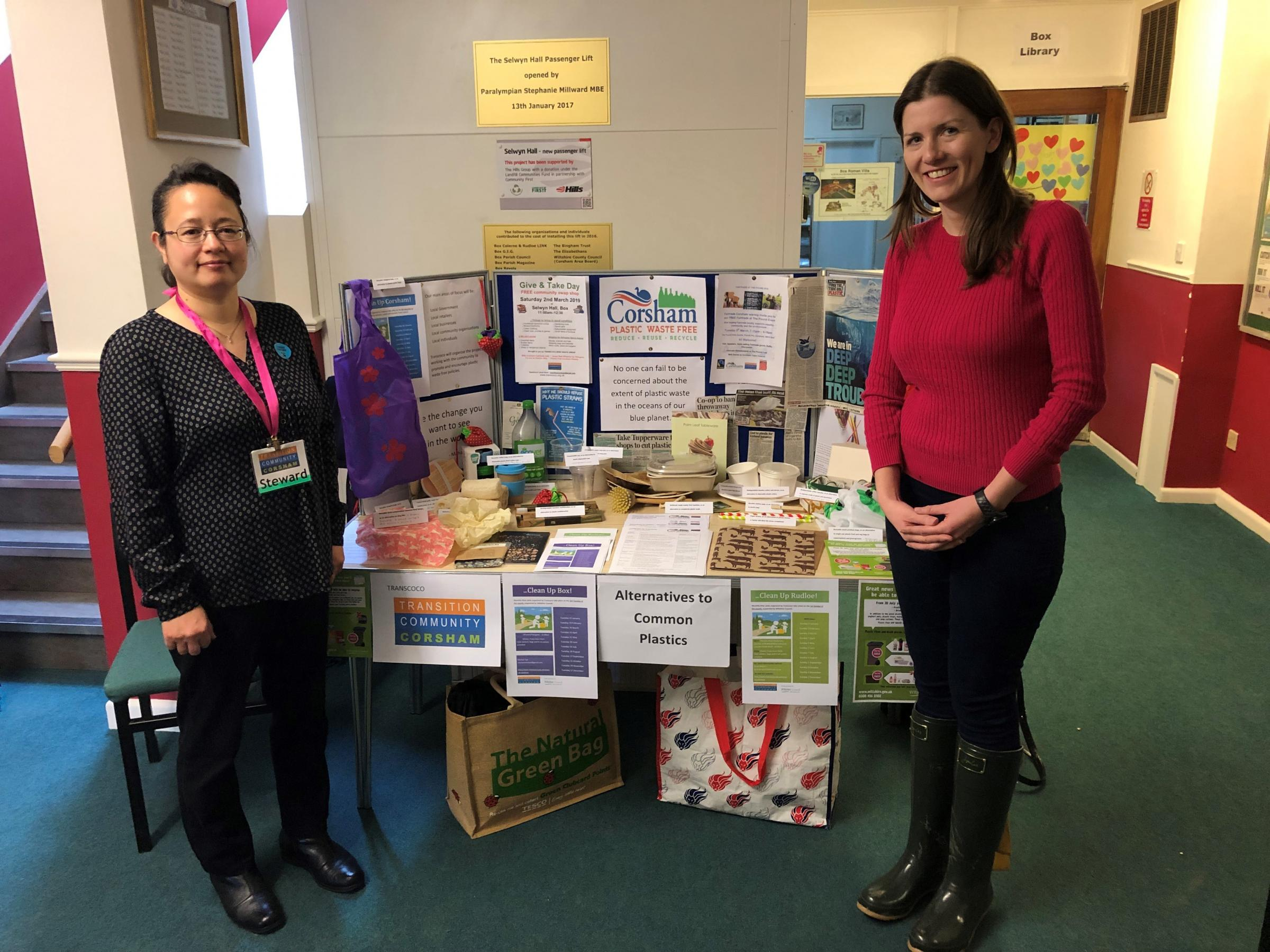 Michelle Donelan MP visits Transition Community Corsham's Give and Take Event