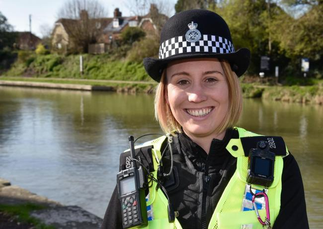 PC Beth Butwell , the new community co-ordinator for Marlborough and Pewsey. Photo by www.gphillipsphotography.com GP1619