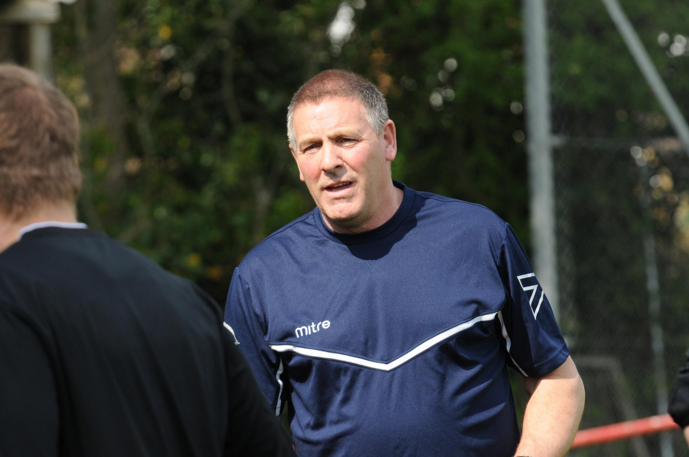 Warminster v Corsham.Andy Crabtree in the role of temporary manager at Warminster. Photo; Trevor Porter 59517 1..