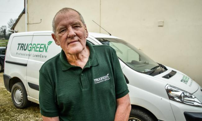 Patrick Beck of Great Somerford has had expensive lawncare tools  stolen from his van . Photo by www.gphillipsphotography.com GP 1632