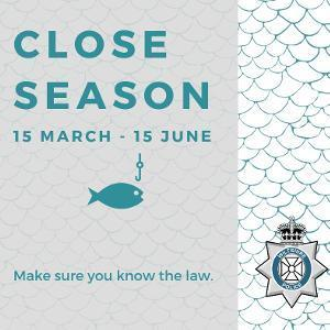 Don't get caught fishing during the close season