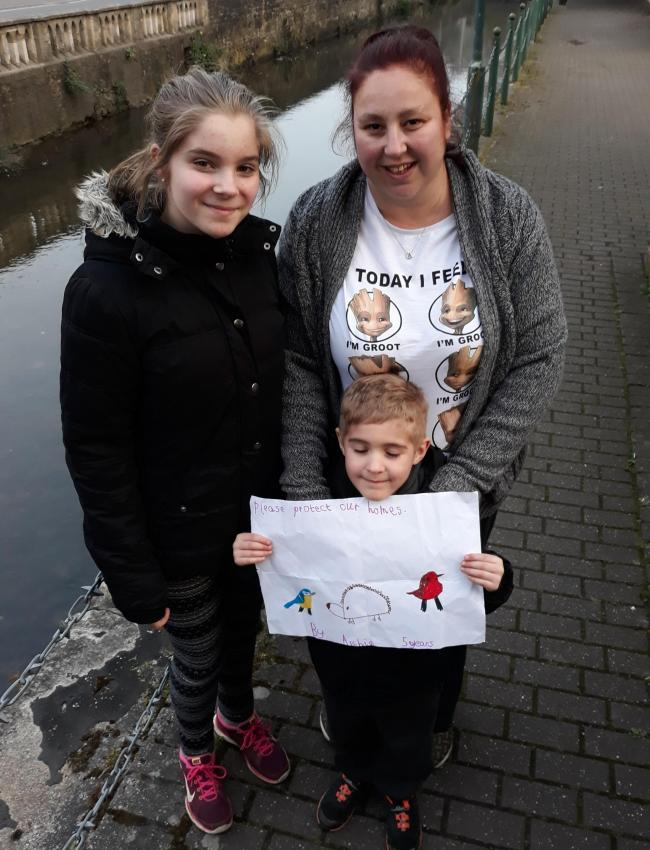 Gemma Atkinson and her children Elisha 12, and Archie 6, are members of the River Warriors