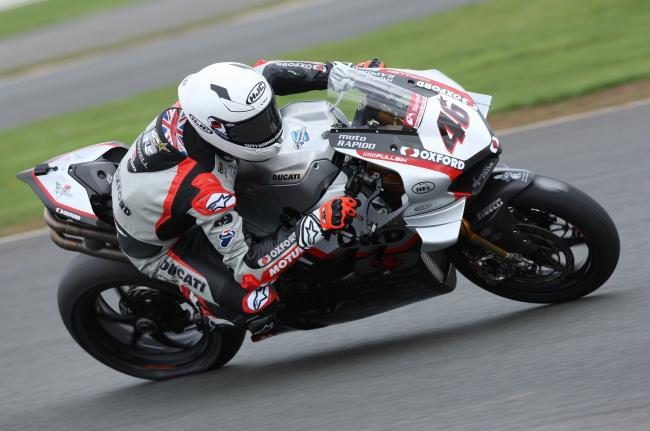 Tommy Bridewell in action at the British Superbikes test day at Silverstone. PICTURE: TIM CRISP