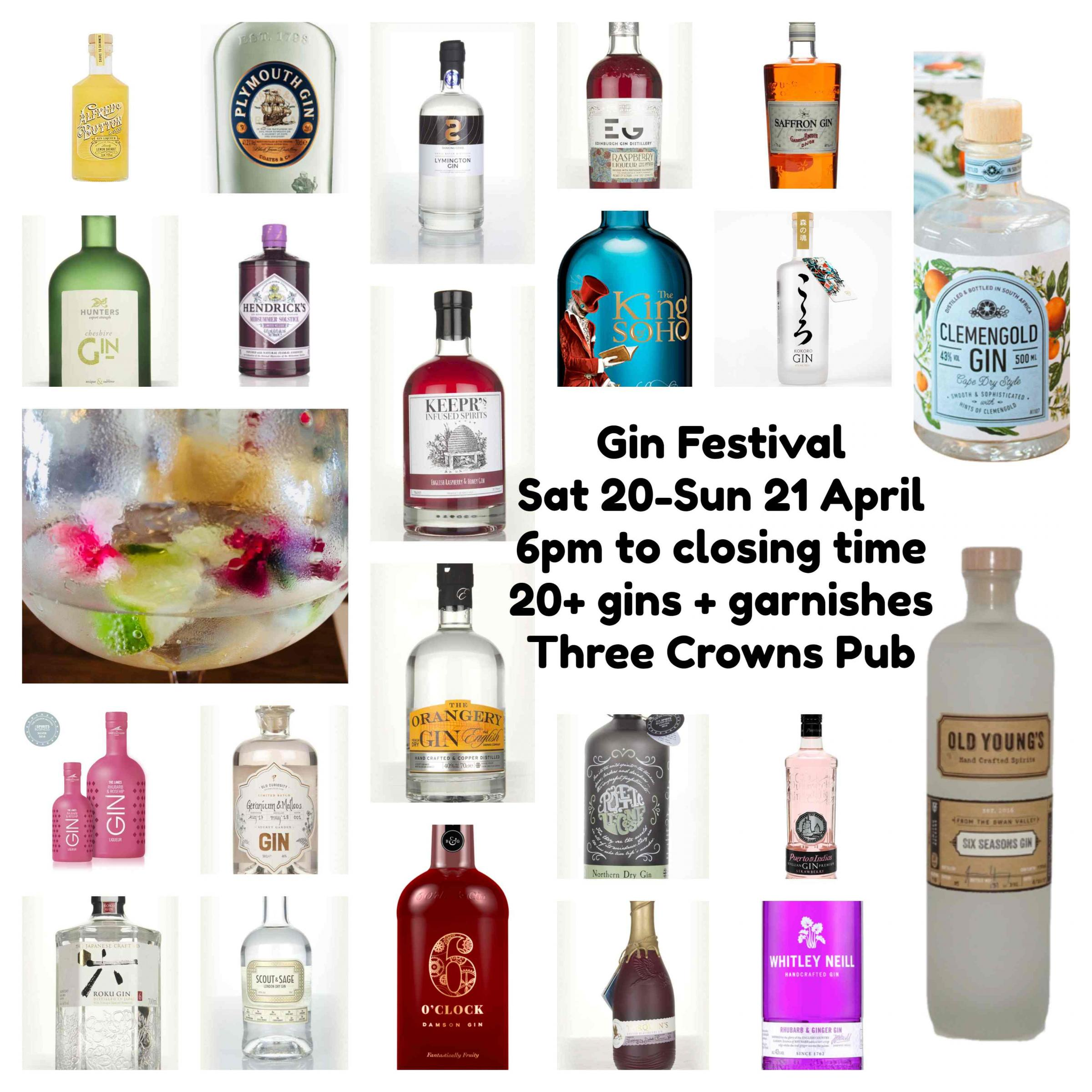3 Crowns Easter Gin Festival