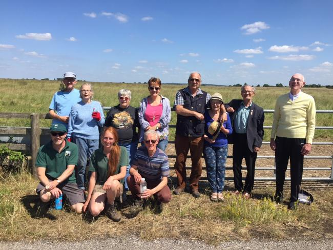 A group enjoying the project at Blakehill Farm which kickstarted the project