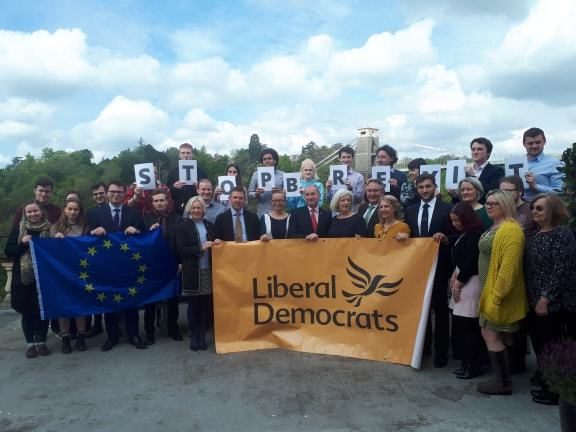 Launch of South West Lib Dem MEP campaign in Bristol. The remain party is demanding a People's Vote over Brexit