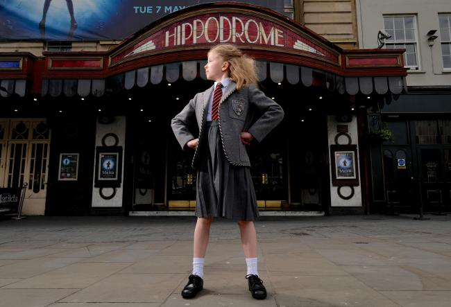 Olivia Cleverley, one of the four actresses who share the role of Matilda in the Royal Shakespeare Company's Matilda The Musical UK and Ireland Tour arrives in Bristol.jpg
