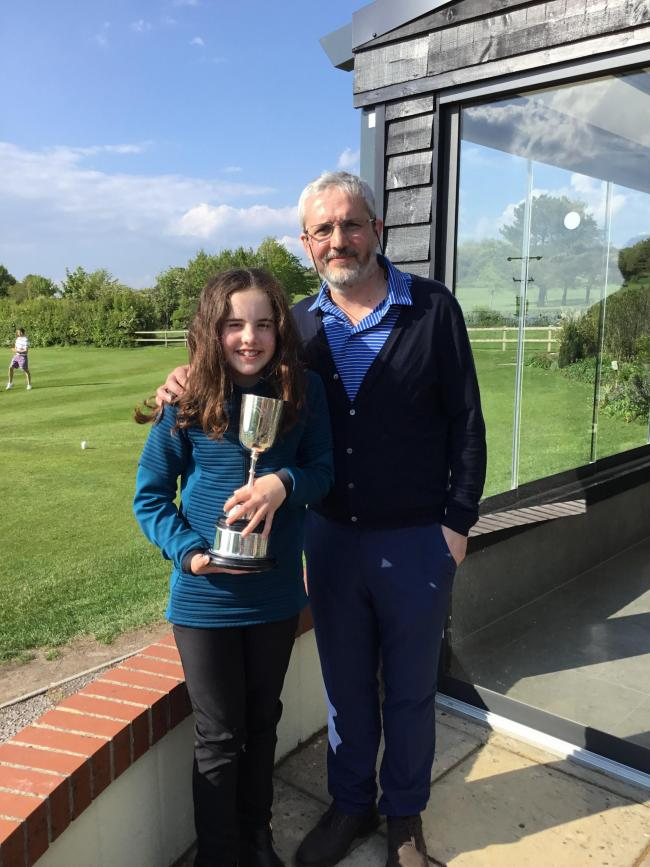 Nick and Gemma Phillips won the Adult and Junior Open at North Wilts Golf Club