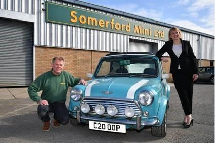 Somerford Mini Ltd founder Peter Hines with HSBC UK's Amanda Brown