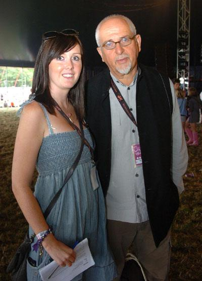 Peter Gabriel with Gazette reporter Alana Lewis