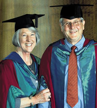 Keith and Joan Padgham at their graduation ceremony