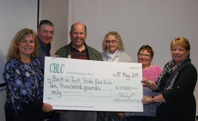 Back On Track Stroke Rehab Service receives £10,000