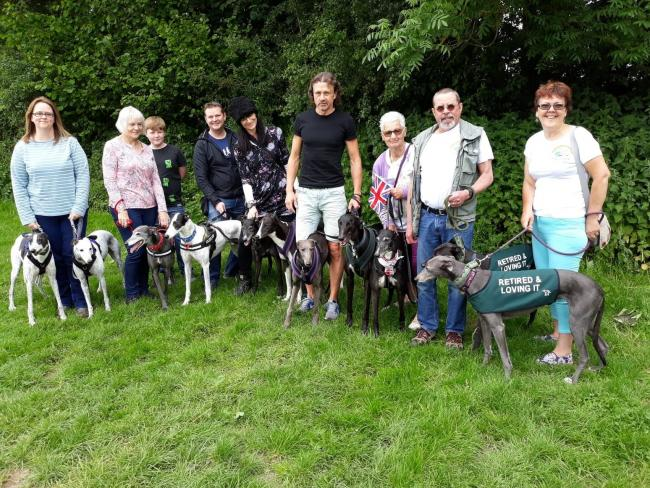 The greyhound owners will be taking part in the mass walk in Chippenham