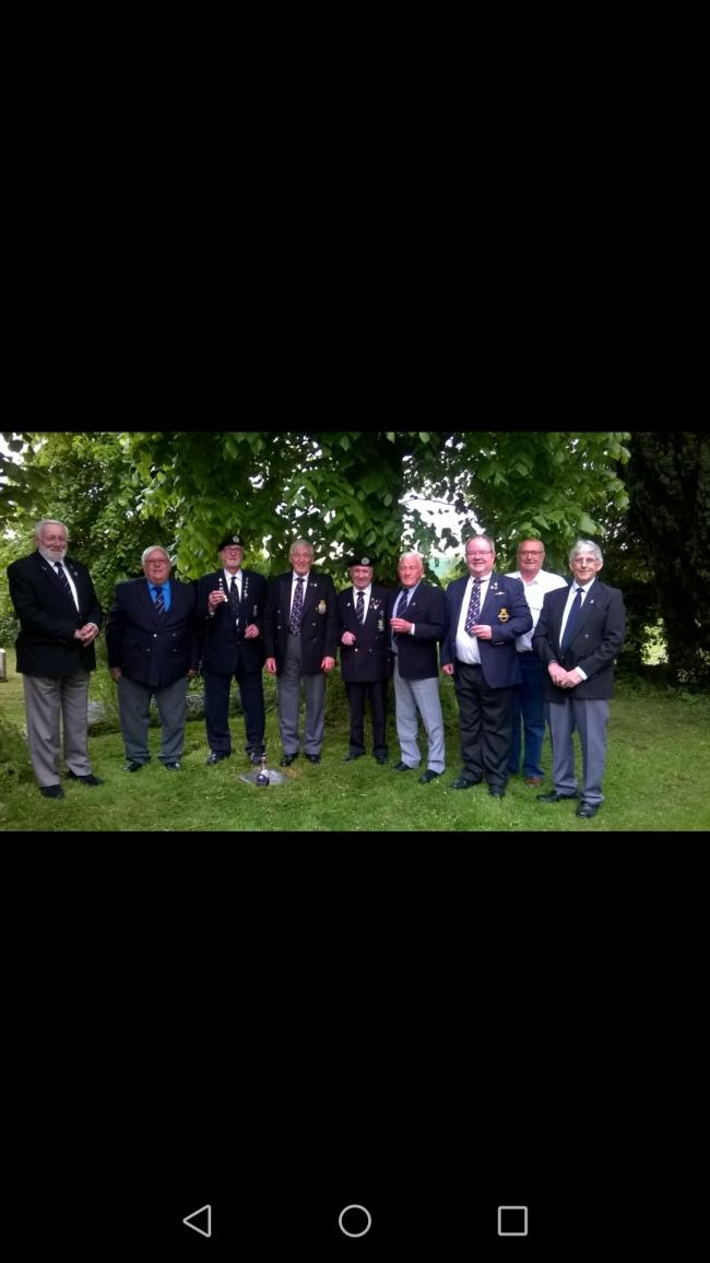 Marlborough RNA hold their annual trip to West overton churchyard to pay their respects