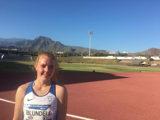 Jenna Blundell at the competition in Tenerife